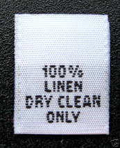 1000 WOVEN CLOTHING LABELS, 100% LINEN DRY CLEA... - $36.59