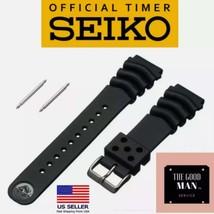 Genuine Seiko Z22 Watch Band Diver SKX171SKX173 18-22mm Black Rubber Cur... - $19.95