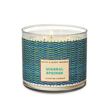 Bath & Body Works Mineral Springs Three Wick Scented Candle 14.5 Oz Bath... - $29.99