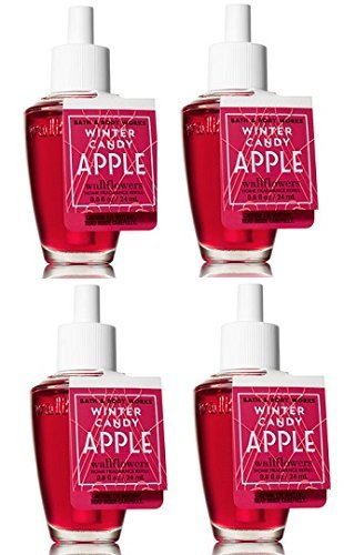 4 Bath & Body Works Winter Candy Apple Wallflower Home Fragrance Refill Bulbs image 1