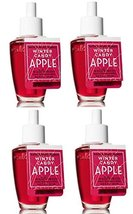 4 Bath & Body Works Winter Candy Apple Wallflower Home Fragrance Refill ... - $26.50