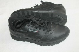 Reebok Classic Leather 116 Black Mens Shoes Size 7 SNEAKERS SHOES - $19.80
