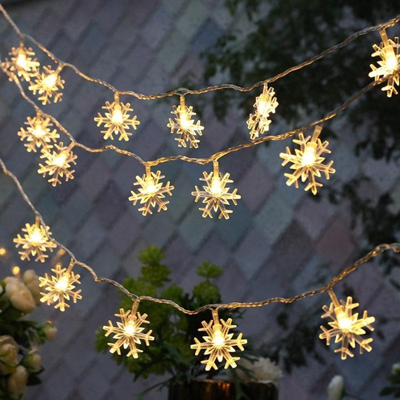 Snowflake Garland 1M 3M 6M LED Light Wedding Decoration Mariage for home  Christ - $1.90 - $22.98