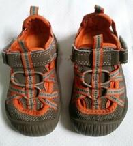 Osh Kosh Boys Toddler Nitro Walking Hiking Shoe Brown And Orange Size 5 - $6.92