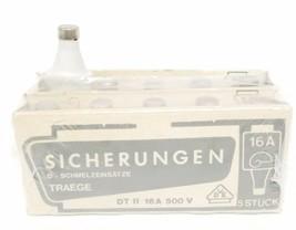 LOT OF 10 NEW SICHERUNGER DT II 16A 500V FUSES