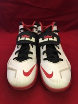 Nike Zoom Lebron Soldier VII 7 599264-100 Red White Basketball Shoes 12.... - $44.55