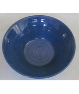 Hand Painted Blue Swirl Design Serving Bowl Stonemite - $12.99