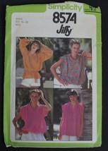 Simplicity 8574 Vtg 1970s Blouse Top/Tie Belt Pattern Miss Sz S 10-12 UNCUT - $6.92