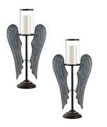 "2 ANGEL WINGS Farmhouse Candleholders Tall 23"" - $74.40"