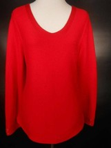 Beautiful Women's Medium Talbots Red Long Sleeve V-Neck Sweater GUC - $20.78