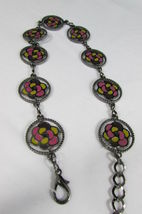Donna Peltro Metallo Bling Moda Cintura Rosa Fiore Giallo Ciondolo Hip Vita S M image 4
