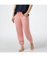 AnyBody Regular Cozy Knit Ruffle Jogger Pants Peach Size M - $21.77
