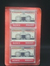 Sony MC 90 3-pack Microcassette MC-60 Minute Tapes - Sealed  - $9.89