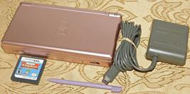 Nintendo DS Lite Metallico Rosa Palmare Sistema Console + Sims Kingdom G... - $50.91