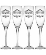 4pcs Champagne Flute Toasting 11oz Glass Set Wedding Bridesmaids Groomsm... - $122.75