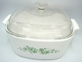 5 Quart Corning Ware Callaway Ivy Square Casserole Dish with Lid A-5-B Deep 5L - $59.61