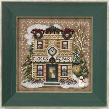 Clock Shoppe 2010 Winter Series beaded button kit Mill Hill - $12.60