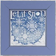 Snowfall 2010 Winter Series beaded button kit Mill Hill - $11.70
