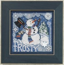 Frosty Snowman 2010 Winter Series beaded button kit Mill Hill - $11.70