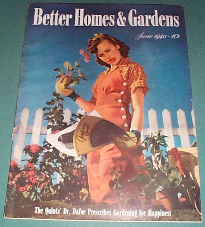 Vintage june 1940 issue of better homes and gardens Better homes and gardens current issue