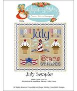 July Monthly Sampler 2017 series cross stitch chart Sugar Stitches  - $10.00