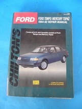 Chilton's Ford TEMPO/MERCURY Topaz 1984-92 Repair Manual U.S. & Canadian Models - $14.01