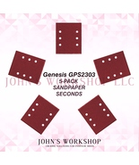 Genesis GPS2303 1/4 Sheet 5-Pack Sandpaper Blowout! 17 Grits! Free Ship! - $5.38