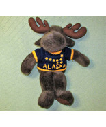"20"" Arctic Circle MOOSE Alaska Knit Blue Sweater Plush Stuffed Animal Br... - $22.77"