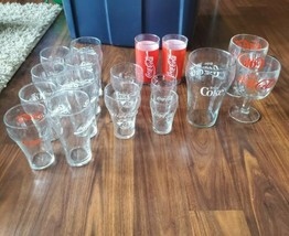 17 Peice Coca Cola Collectable Glass Cups - $37.05