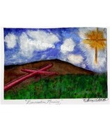 8x10 Resurrection Morning Cross Dove Print Kat-Renee Kittel - $15.00