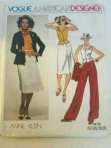 Vogue American Designer Anne Klein Sewing Pattern 1479 Career Skirt Outf... - $21.24