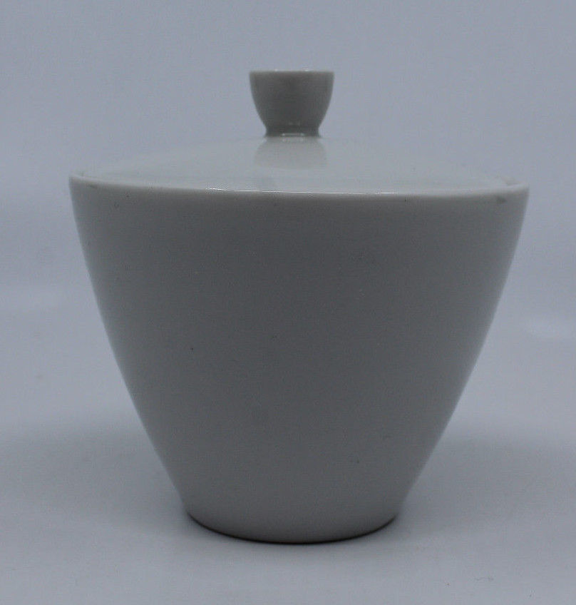 HUTSCHENREUTHER Bavaria Selb Elegance White Sugar Bowl With Lid Germany Modern - $31.60