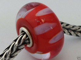 Authentic Trollbeads Murano Glass Retired Lilac Shadow (A) Bead Charm, 61161 New - $28.72