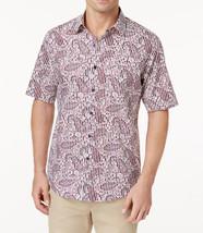 New Mens Tasso Elba Island Chest Pocket Paisley Button Front Shirt L 16 -16 1/2 - $16.99