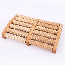 Foot Massager Roller -Wooden Dual Foot Massage Roller for Overall Relaxation & R