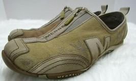 Merrell Barrado Sport Womens 7 Canvas Leather Low Profile Zip Run Walkin... - $38.38