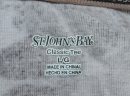 Stable Women's Brown & White Long Sleeve Shirt by St. Johns Bay Size L R... - $14.67