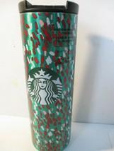 Starbucks 16 oz Holiday 2019 Green Confetti Christmas Insulated Vacuum T... - $14.84