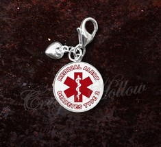 Choose Medical Alert Message Sterling Silver Charm - $30.50