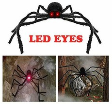 AISENO Giant Spider 4.2FT/125cm with LED Eyes Spooky Sound Halloween - $18.74