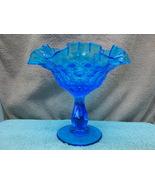 Fenton Glass colonial blue compote/ candy dish circa 1960s. - $15.00