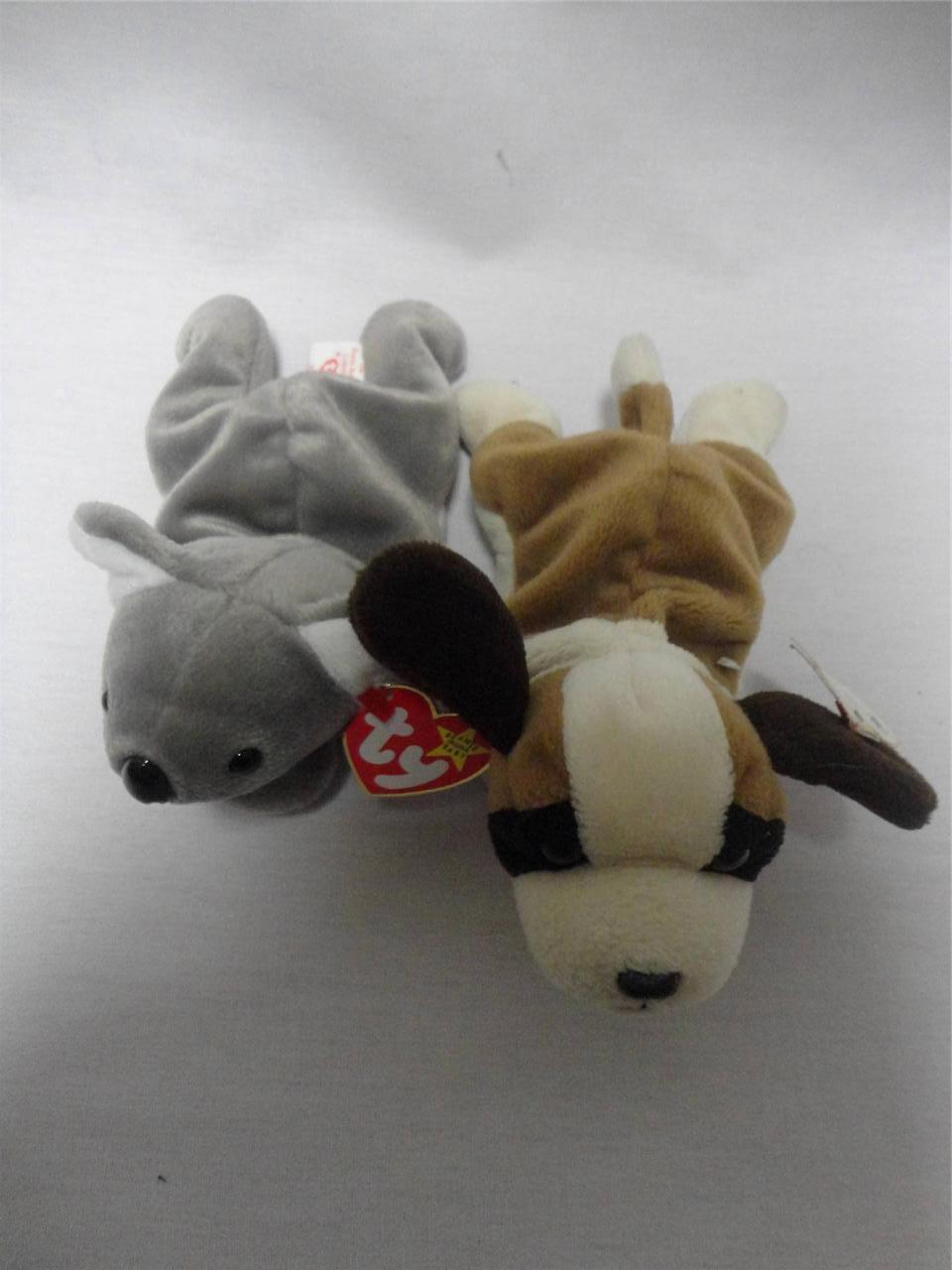 TY Beanie Babies Mel the Koala 1996 and Bernie the Dog 1996 Lot of 2