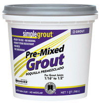Custom SimpleGrout  White  Sanded Grout  1 qt. - $17.99