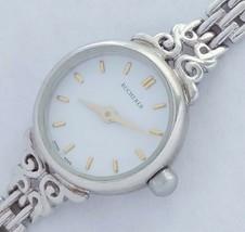 Swiss made Bucherer watch pure silver 925 Ladies quartz watch mint conat... - $274.64