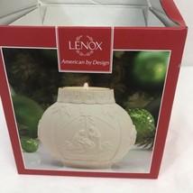 NIB Lenox Ornamental Glow Nativity Scene Bisque Ceramic Tea Light Candle... - $16.83