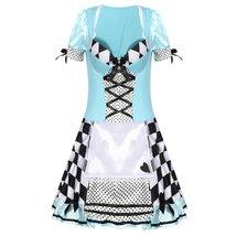 Sweet Blue Lolita Costume Alice In Wonderland Cosplay image 3
