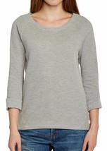 Bench Femmes Gris Nam Banane Manches Longues Col Bénitier Pull Nwt