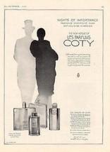 Vogue Coty Perfume 1929 Ad Nights of Importance L'Aimant Paris Chypre Em... - $14.99