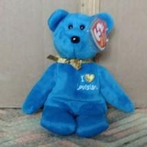 TY BEANIE BABIES I LOVE LOUISIANA PLUSH BEAR  HURRICANE KATRINA 2005  - $5.99