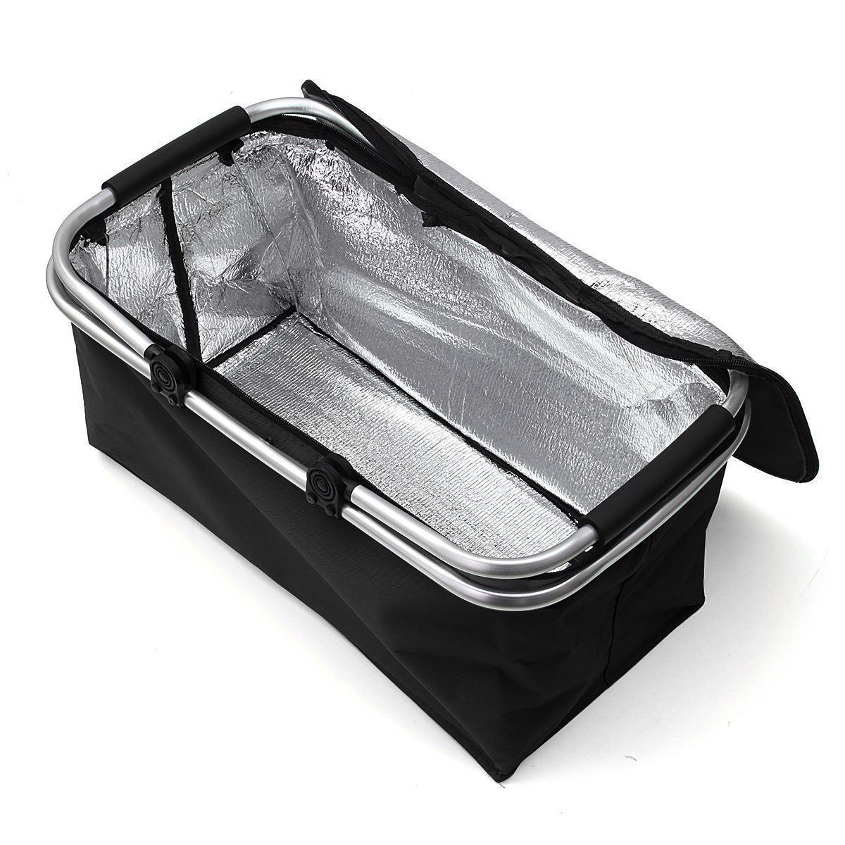 Folding Picnic Camping Outdoor Aluminum Beach Hiking Bag Storage Basket Box